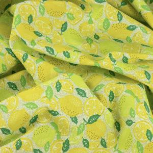 Tissu toile imprimée tissus Citron © Eyrelles Tissus
